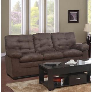 Mocha Microfiber Tufted Sofa