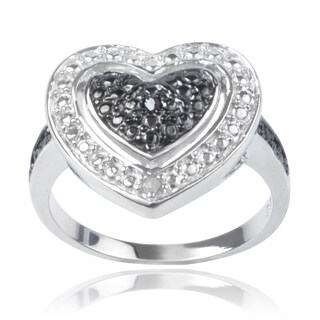 Journee Collection Sterling Silver Diamond Accent Heart Ring