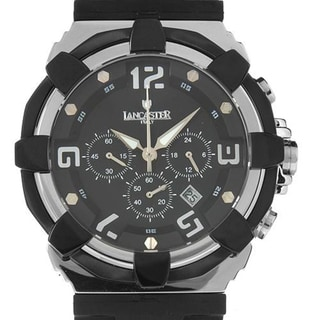 Men's 440 BK NR/NR Black Rubber Chronograph Watch (As Is Item)