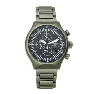 Civetterie Ginza Men's Type 12 Nero Pewter Aluminium Chronograph Watch (As Is Item)