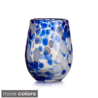 Fitz and Floyd Splash Blue Stemless Glasses (Set of 4)