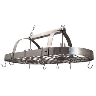 Elegant Designs Home Collection Brushed Nickel 2-light Kitchen Pot Rack