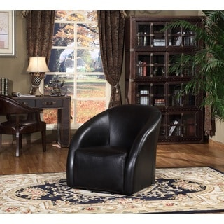 Maryland Swivel Tub Leather Chair by Lazzaro Leather