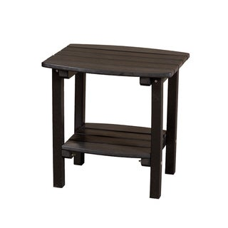 Somette Terra Black Poly Lumber Outdoor Side Table
