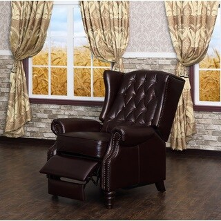 Francis Tufted Leather Recliner by Lazzaro Leather