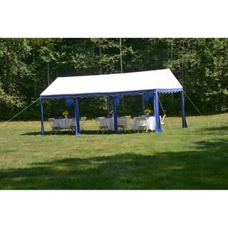 ShelterLogic Model 25888 Blue/ White 8-leg Galvanized Steel Frame Party Tent