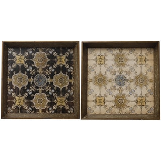 Decorative Serving Trays (Set of 2)