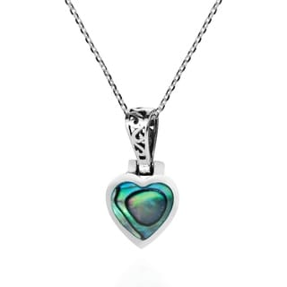 Wild Heart Stone Inlay .925 Sterling Silver Love Necklace (Thailand)