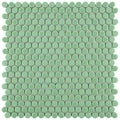 SomerTile 11.25 x 11.75-inch Asteroid Penny Round Capri Porcelain Mosaic Floor and Wall Tile (Pack of 10)