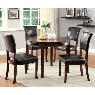 Furniture of America Hallins Medium Oak Round Dining Table