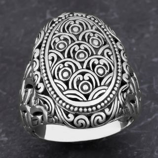 Sterling Silver Floral Garden Cawi Ring (Indonesia)