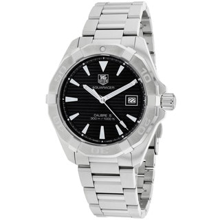 Tag Heuer Men's WAY2110.BA0910 Aquaracer Round Silvertone Bracelet Watch