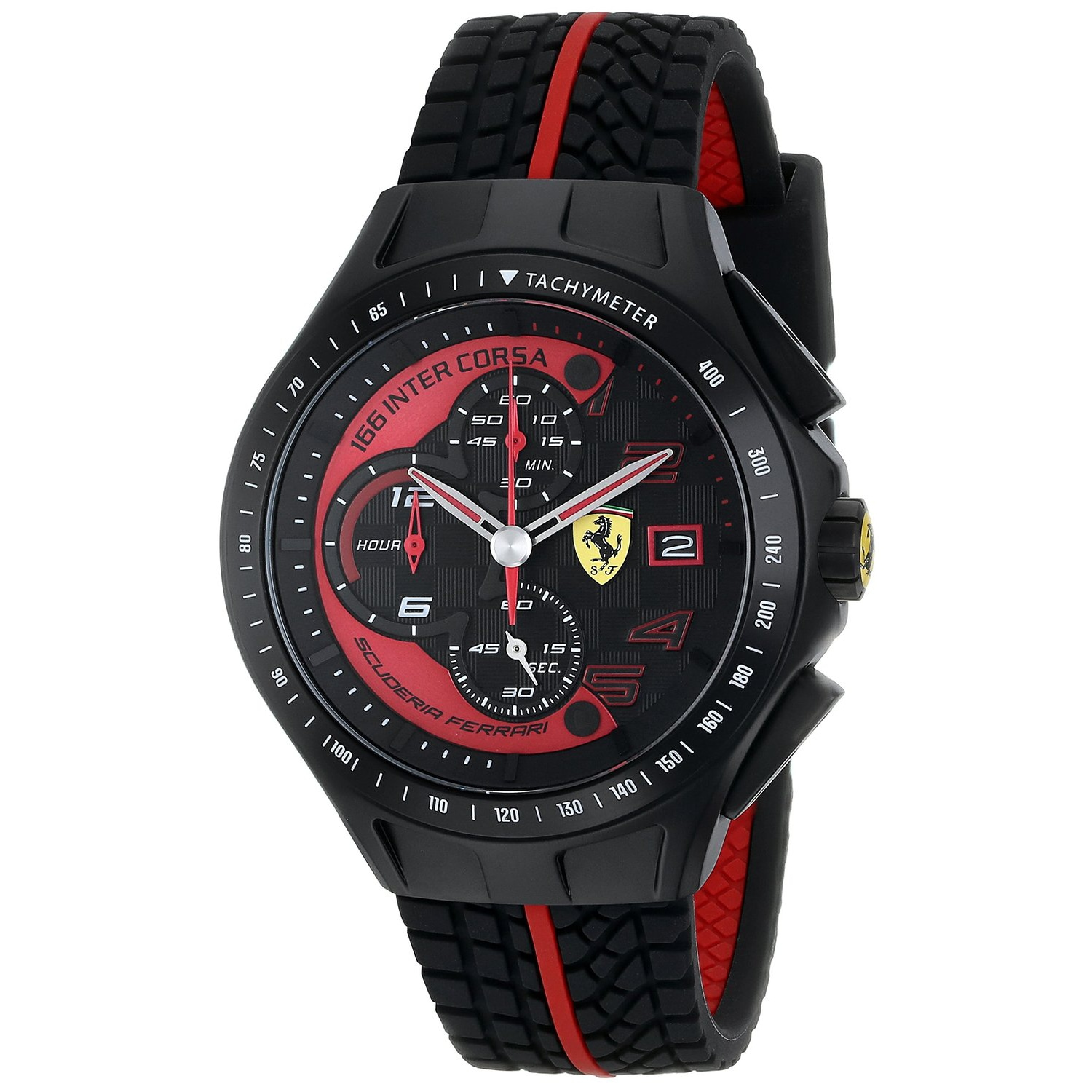Đồng hồ nam Ferrari Mens 0830077 Race Day Stainless Steel Watch
