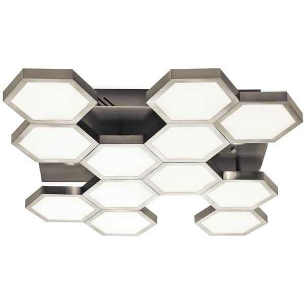 Kichler Lighting Hexel Collection LED Chrome and Sand Nickel Flush Mount