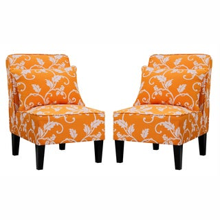 Orange living room chairs overstock shopping the best - Orange chairs living room ...
