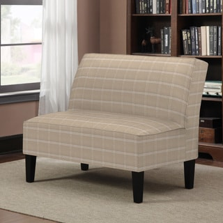 Better Living Wylie Khaki Square Plaid Armless Settee