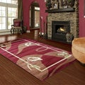 LYKE Home Audrey Red Area Rug (8' x 11')