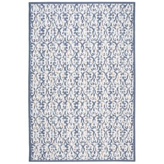 Nourison Home and Garden Ivory/Navy Rug (7'9 x 10'10)