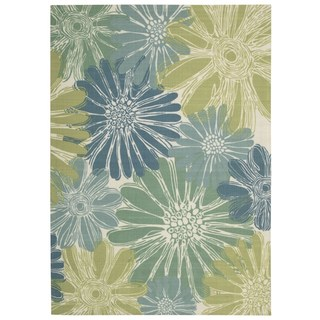 Nourison Home and Garden Ivory/Blue Rug (6'6 x 9'9)
