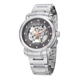 Stuhrling Original Men's Automatic Skeleton Stainless Steel Bracelet Watch