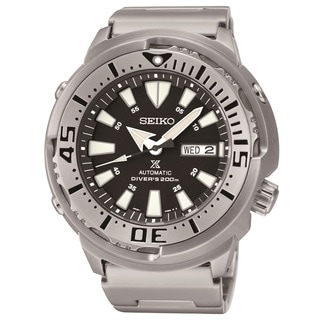 Seiko Men's SRP637 Stainless Steel Diver 24 Jewel Movement Watch