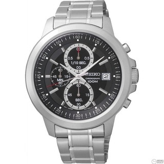 Seiko Men's SKS445 Black Dial Stainless Steel Chronograph Watch