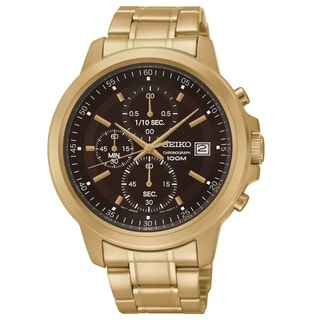 Seiko Men's SKS468 Gold Tonel Stainless Steel Chronograph Watch
