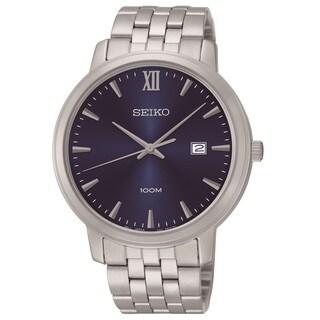 Seiko Men's SUR117 Stainless Steel Blue Dial Watch