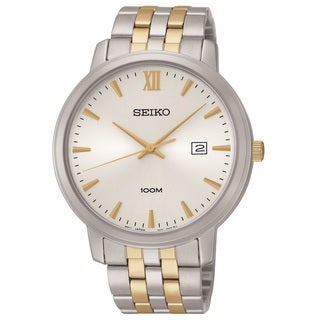 Seiko Men's SUR121 Stainless SteelTwo Tonel Watch