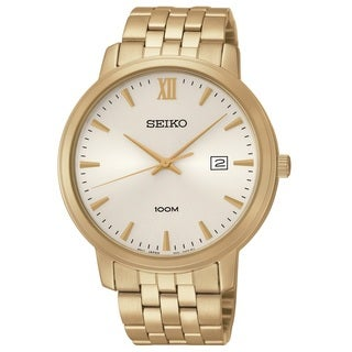 Seiko Men's SUR122 Stainless Steel Gold Tone Watch