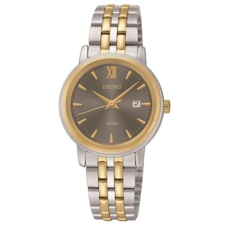 Seiko Women's SUR810 Stainless Steel Two Tone Watch