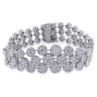 Miadora Signature Collection 18k White Gold 16 3/4ct TDW Diamond Bracelet (G-H, SI1-SI2)