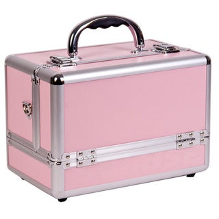 Sunrise 3-tier Expandable Tray Pink Makeup Case