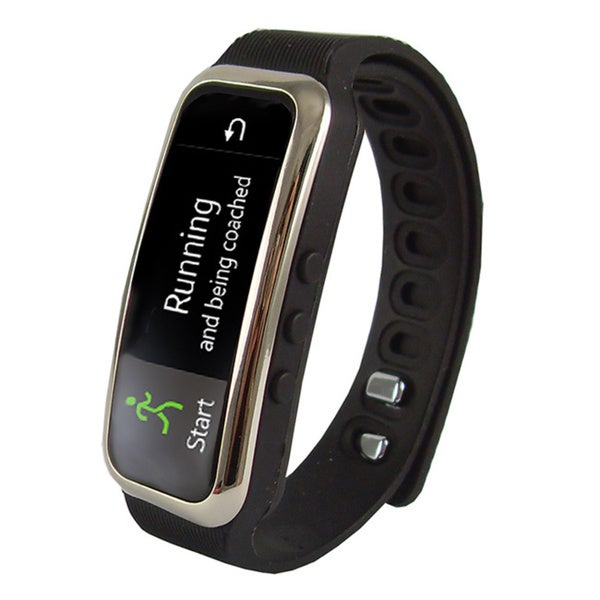Supersonic SC-61SW .91-inch Fitness Wristband with Bluetooth- Black