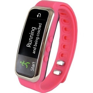 Supersonic SC-61SW .91-inch SC-61SW Fitness Wristband with Bluetooth-Pink
