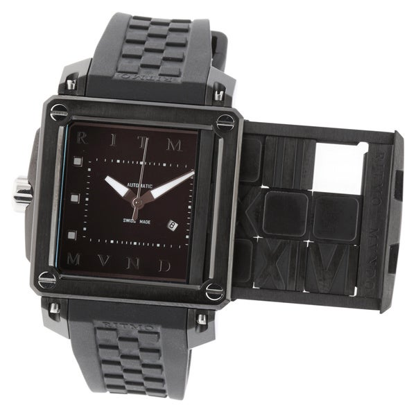 Persepolis Puzzle Men's 501/1ss Black Rubber Watch (As Is Item)
