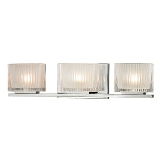 Polished Chrome Chiseled Glass Collection 3-Light bath