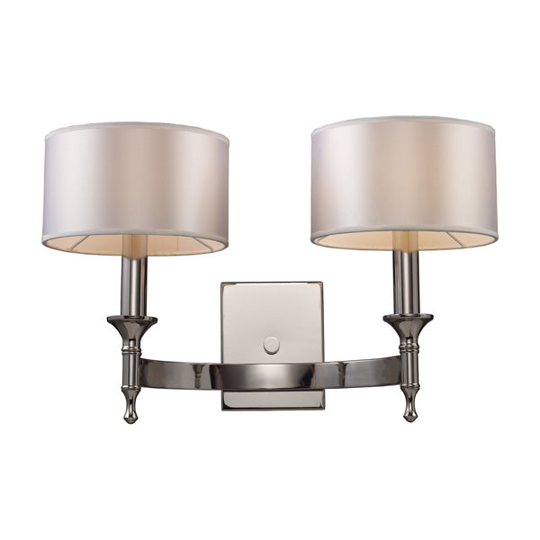 Polished Nickel Pembroke Collection 2-Light Sconce