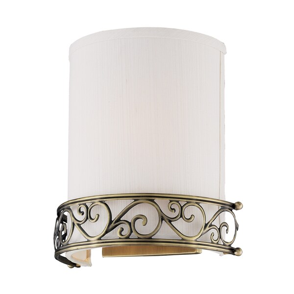 Antique Brass Abington Collection 1-Light Wall Sconce