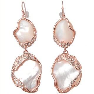 De Buman 18k Goldplated Mother of Pearl Dangle Earrings