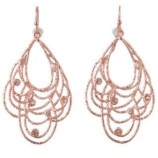 De Buman 18k Rose Goldplated & White Czech Earrings