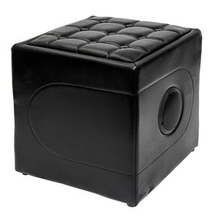 SoundLogic Black Leather Bluetooth Speaker Ottoman