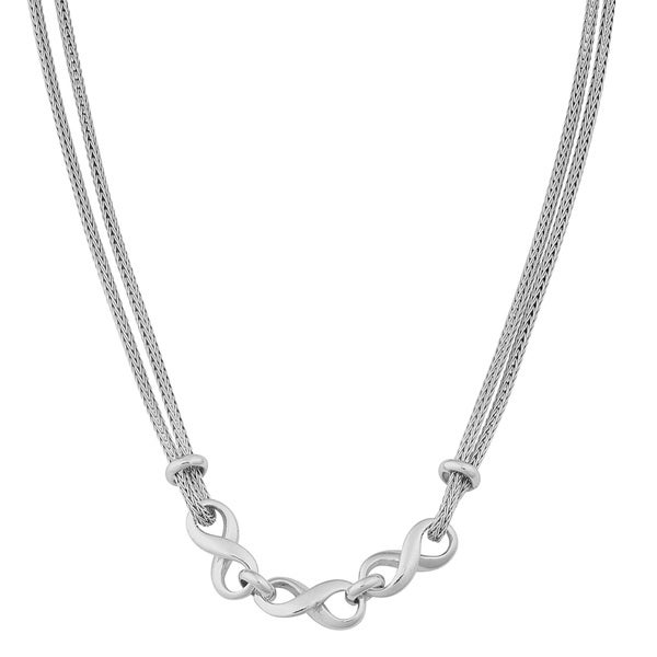 Argento Italia Sterling Silver Mesh and Infinity 18-inch Necklace