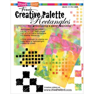 "Stampendous Creative Palette Rectangles Designs-(1) 4.75""X7.75"" (1) 4""X5.25"""