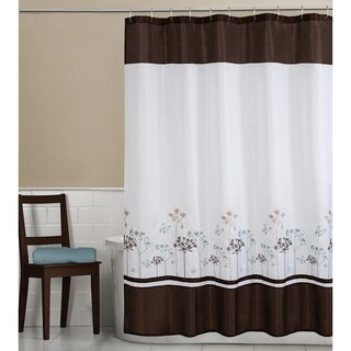 Maytex Angelina Embroidered Fabric Shower Curtain