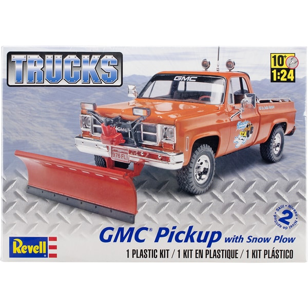 Plastic Model Kit-GMC Pickup w/Snow Plow 1/24