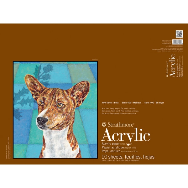 "Strathmore Acrylic Paper Pad 18""X24""-10 Sheets"