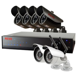 Revo Lite 8-channel 1TB 960H DVR Surveillance System with 2 Wireless and 4 Wired Bullet Cameras