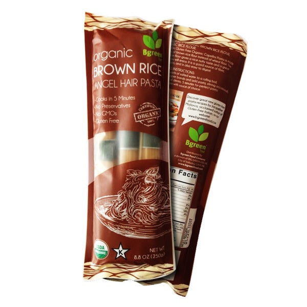 Bgreen Organic Brown Rice Angel Hair Pasta (2 Pack)
