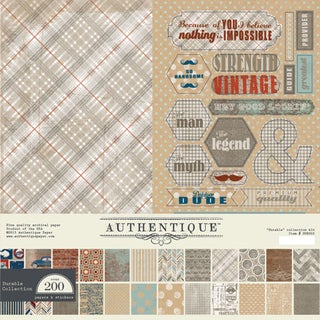 "Authentique Collection Kit 12""X12""-Durable"